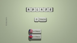 How to Pronounce ABLAZE