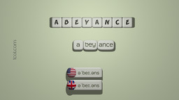 How to Pronounce ABEYANCE