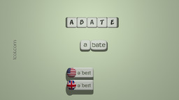 How to Pronounce ABATE