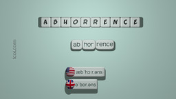 How to Pronounce ABHORRENCE